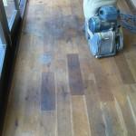 Polishing the new floor