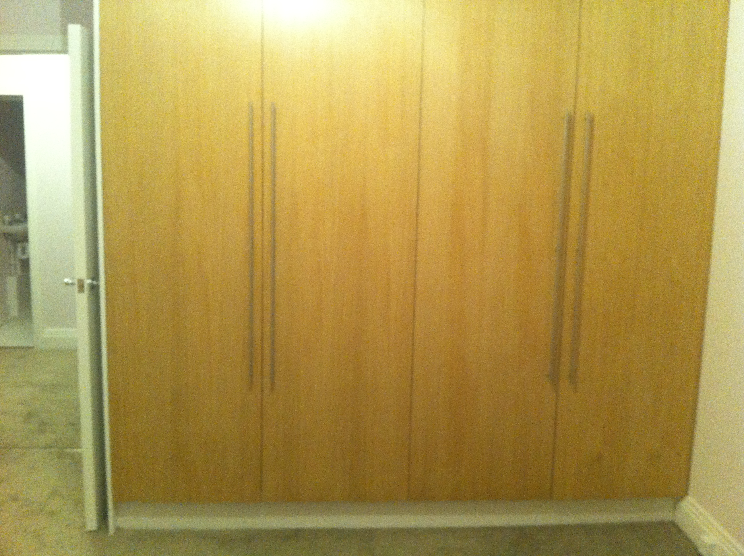 Haverstock Hill NW3 Door of fitted wardrobe