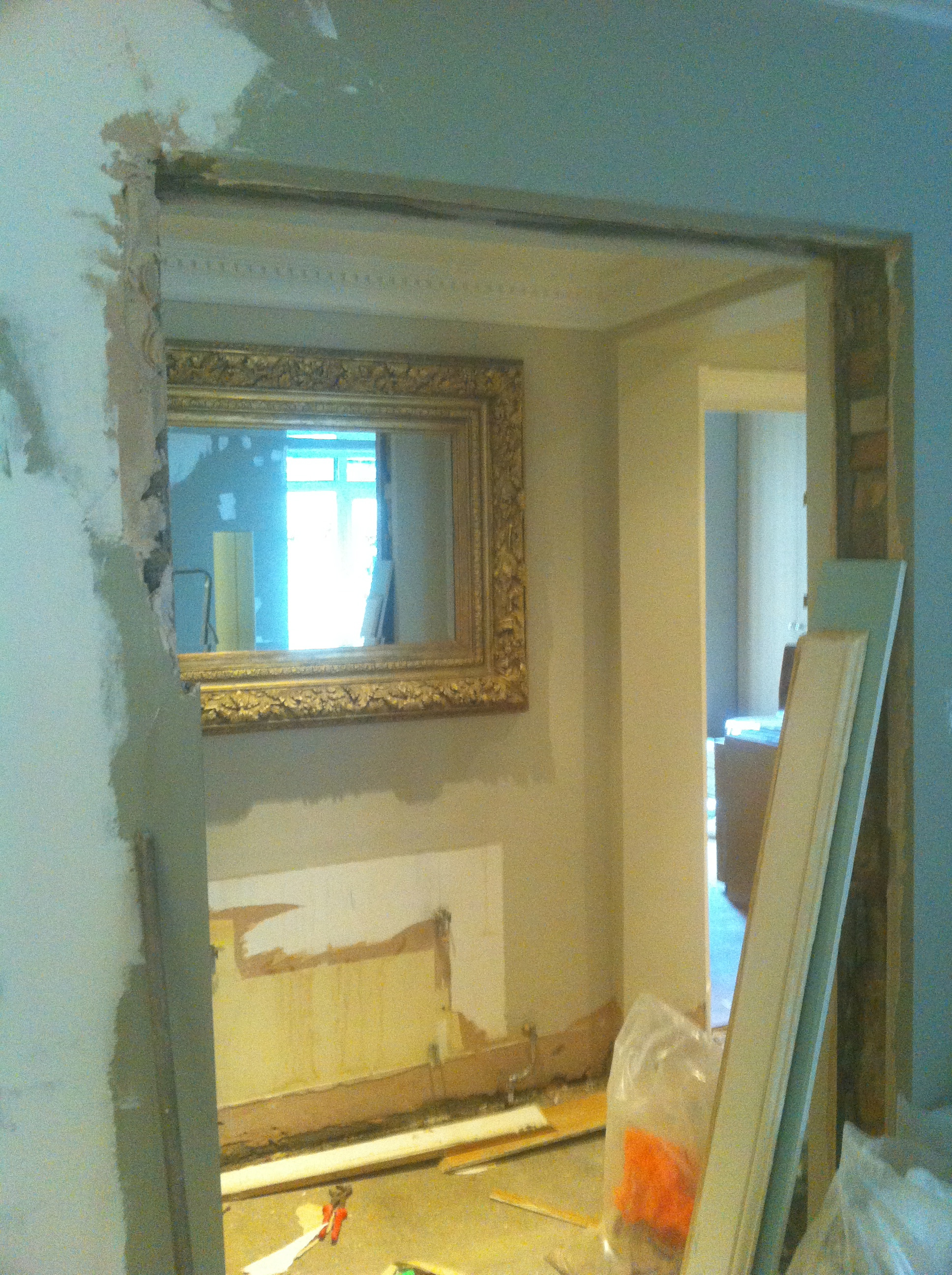 Randolph Avenue W9 Working on the alcoves and skirting boards