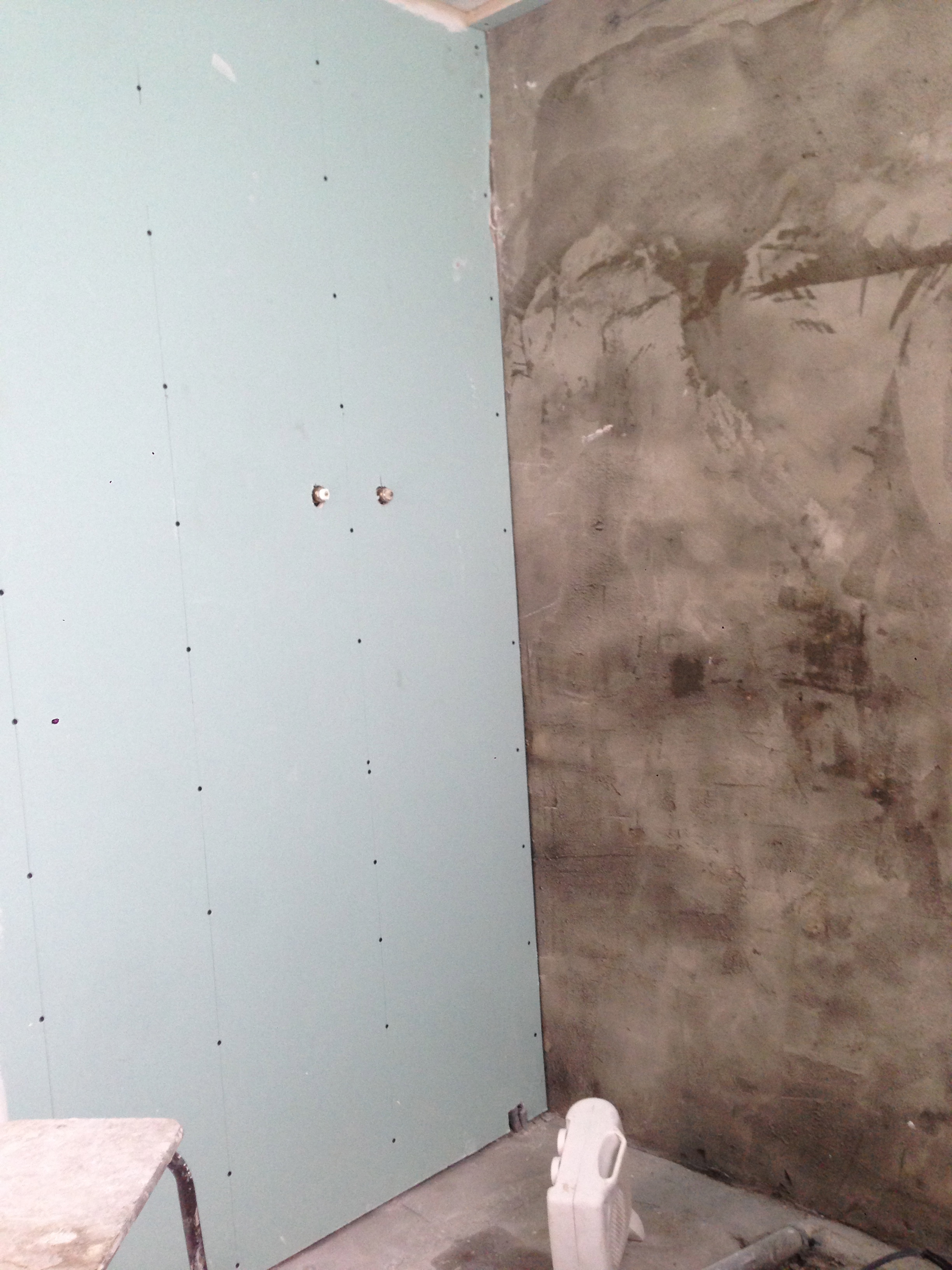 Thorndean St SW18 Replastering: floor viewed from above