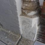 stonework before