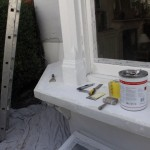 window sill before redecoration