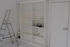 Bookshelves before